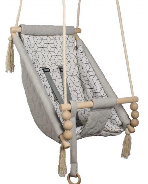 Leżaczek bujany 3 w 1 dla niemowlaka